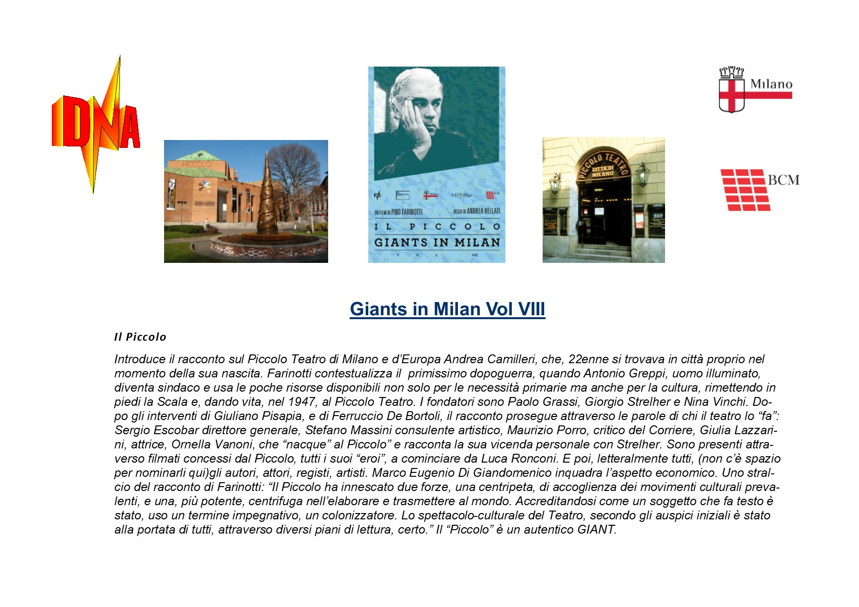 Giants in Milan vol VIII